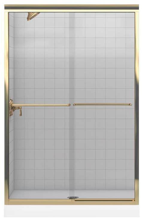 Bypass Shower Door Parts Kohler K 702208 L Mx Matte Nickel Fluence Frameless Bypass Shower Door With Clear Glass