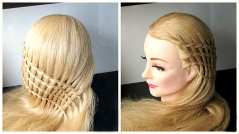 Ladder Hairstyle by Braided Waterfall Hairstyle Feather Waterfall And Ladder