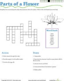 Rock Garden Plant Crossword Clue Science Crossword Parts Of A Flower Worksheet Education
