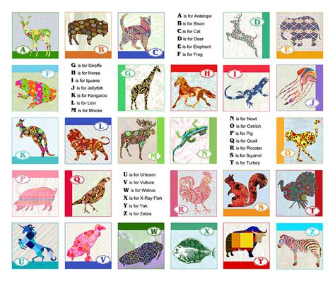 learn the alphabet learn abc with animal pictures teach your child to recognize the letters of the alphabet abcd for books abc animal alphabet painting by elaine plesser