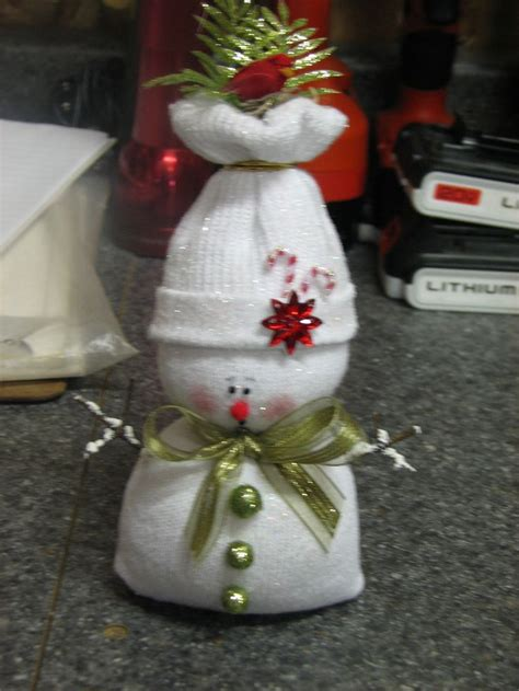 sock snowman christmas craft pinterest