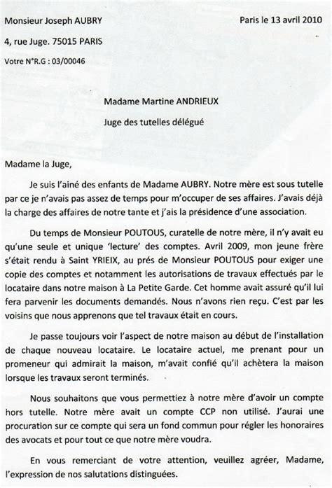 Demande De Tutelle Lettre 13 Avril 2010 Demande Copie Des Comptes Cloture Curatelle Quand Les Juge Utilisent Le Droit