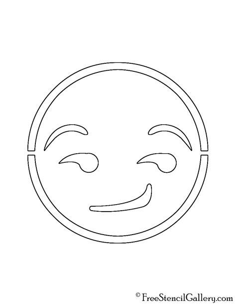printable pumpkin stencils emoji printable emoji stencils smiling face heart shaped eyes