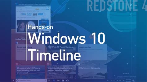 windows 10 timeline demo check out how it works and its