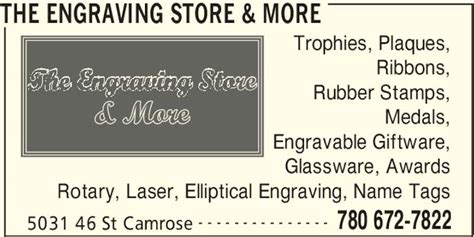 rubber st engraving the engraving store more opening hours 5031 46 st