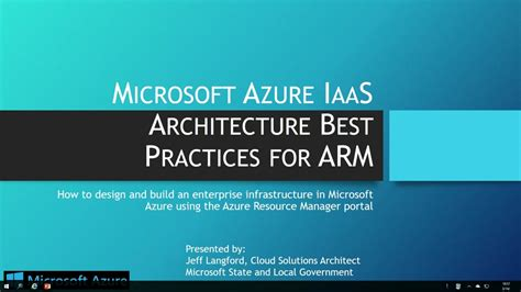 architecture practices creating virtual networks and vpn connections in arm microsoft azure iaas architecture best