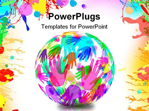 different powerpoint templates spehere with of different colors on a white