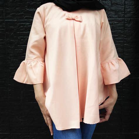 Atasan Kebaya Putih jual blouse atasan kebaya blouse polos lengan panjang