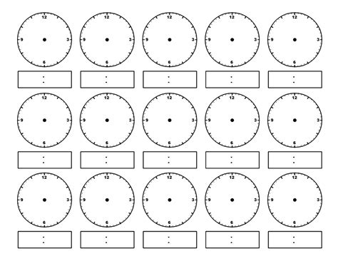 Blank Clock Worksheets by Blank Clocks For Telling Time Search Results Calendar 2015