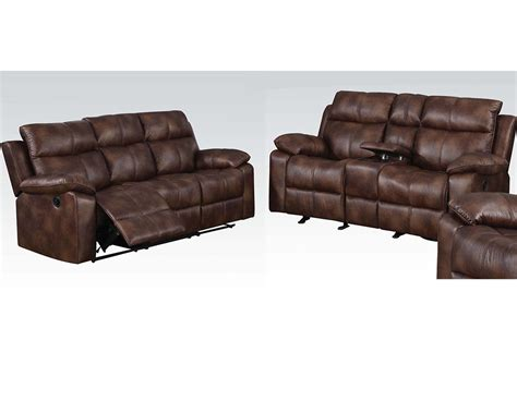 brown sofa set light brown sofa set w motion dyson by acme furniture
