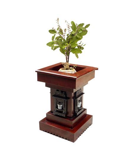 Tulsi Planter saffron carved tulsi planter by mudra pots