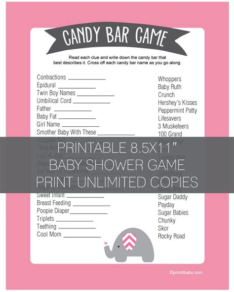 Bar For Baby Shower Printable by Baby Shower Bar Pink Elephant Jungle Theme