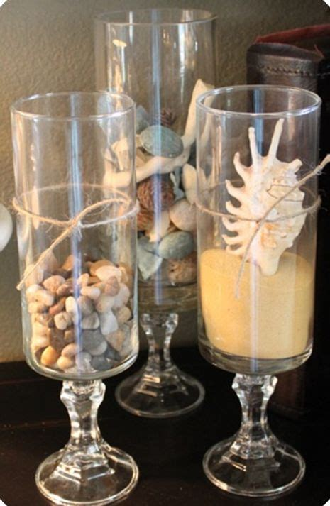 Decorating Ideas For Hurricane Vases Glass Hurricane Filler Ideas Table Top Inspiration