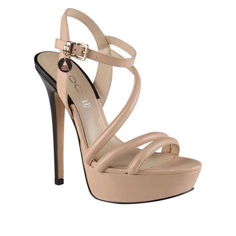 aldo sandals aldo nomble sandals in beige bone lyst