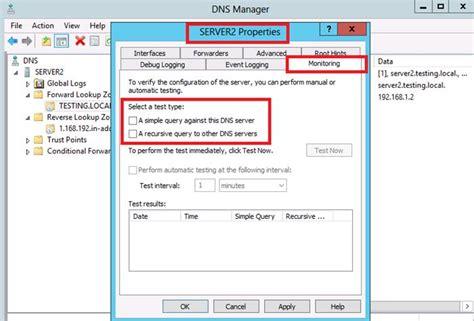 configuring dns forwarding  windows server  mcse