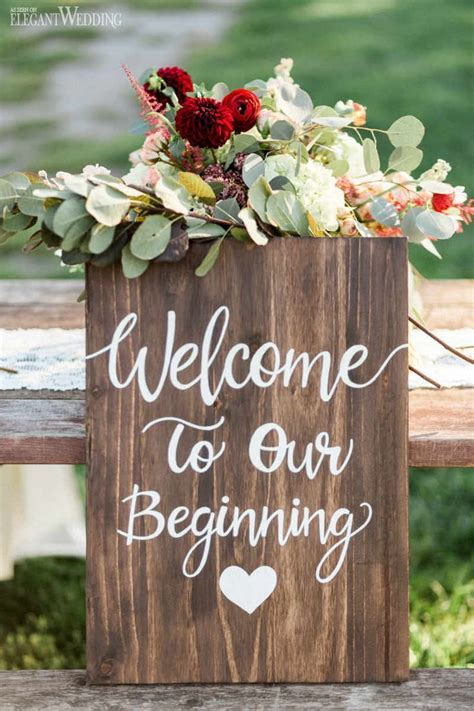 25  best ideas about Wedding signs on Pinterest   Rustic