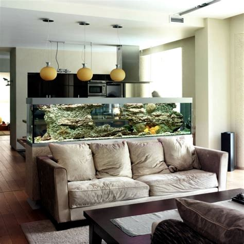 In The Livingroom 100 Ideas Integrate Aquarium Designs In The Wall Or In The