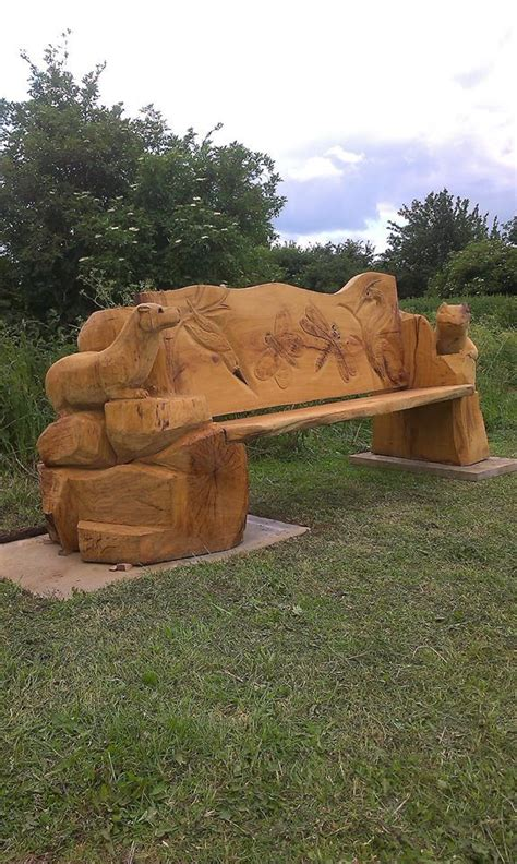chainsaw bench carving 20 best chainsaw carved outdoor furniture images on