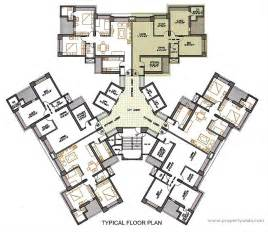 Typical Hotel Room Floor Plan by Oberoi Woods Goregaon East Mumbai Residential Project