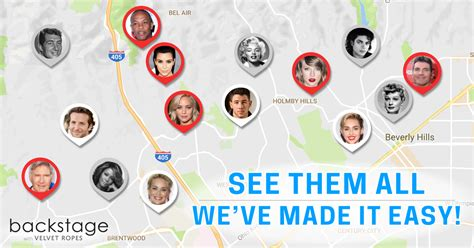 hollywood celebrities map hollywood stars homes map find your fav celebs