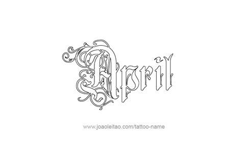 april tattoos designs april name designs