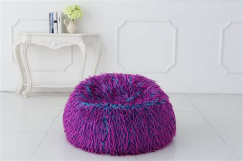 Faux Fur Bean Bag Chair by New Multi Colour Faux Fur Bean Bag Chairs Ebay