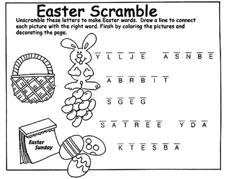 easter coloring pages games printable easter word fnds easter scramble coloring page