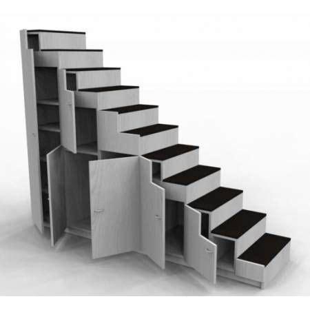 Fabriquer Un Escalier Avec Des Caissons by Meuble Escalier Pour Mezzanine Avec Rangements Sur Mesure