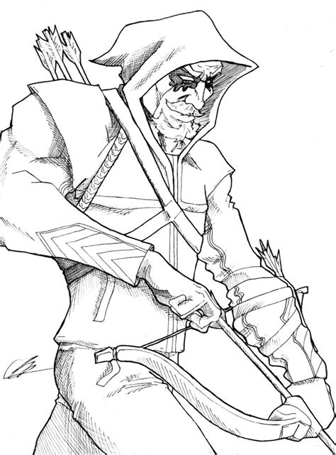 Green Arrow By Kingvego On Deviantart Green Arrow Coloring Pages