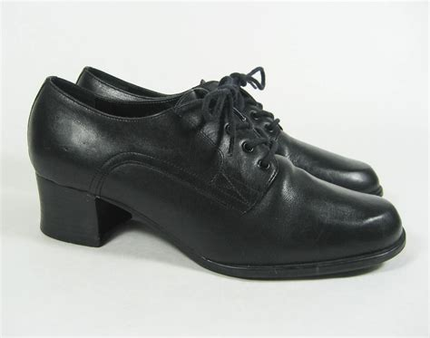 Low Heel Oxfords s hunt club betsy black leather lace up low heel
