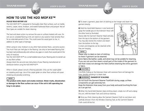 H2O Mop X5 User Guide / English