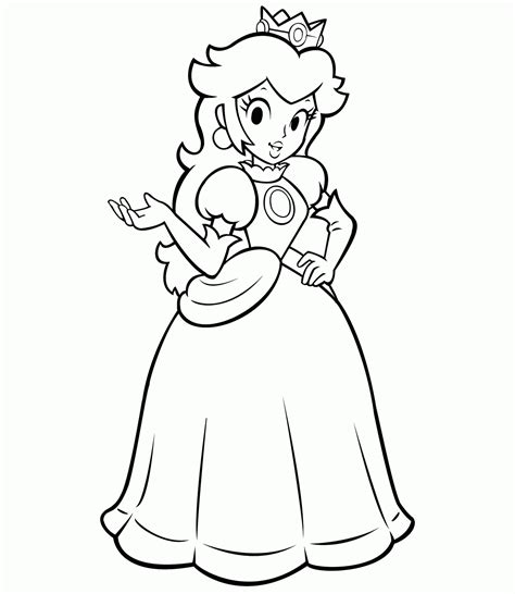 coloring pages of daisy from mario super mario daisy coloring pages az coloring pages