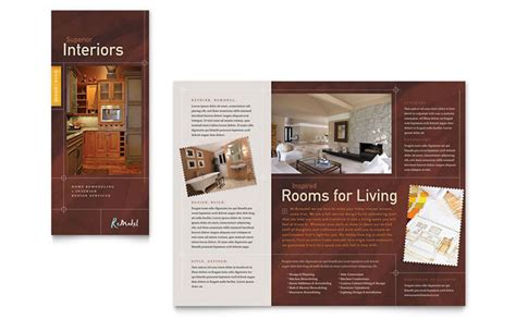 Home Remodeling Tri Fold Brochure Template Design Home Improvement Flyer Template