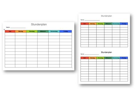 Vorlage Word Stundenplan Stundenplan Vorlage Muster Und Vorlagen Kostenlos