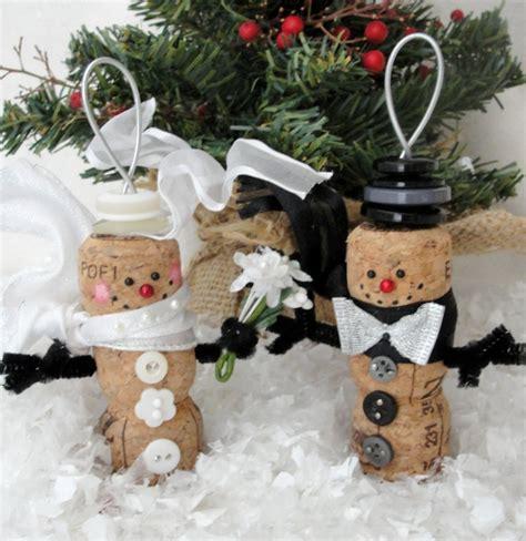weihnachtsdekoration aussen selber machen weihnachtsdekoration aus korken zum selbermachen