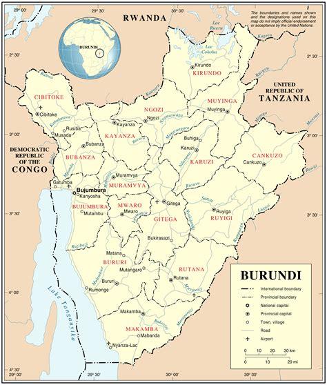 africa map burundi large administrative and road map of burundi burundi