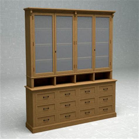 Display Cabinet Models Apothecary Display Cabinet 3d Model Formfonts 3d Models