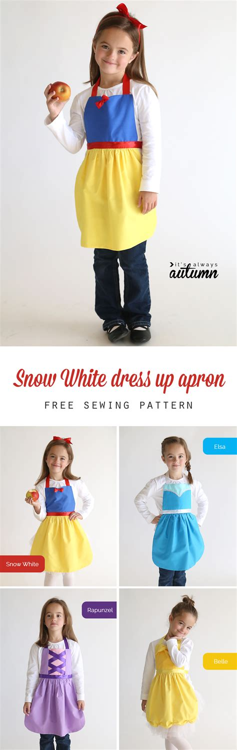 pattern snow white costume free sewing pattern for snow white princess dress up apron