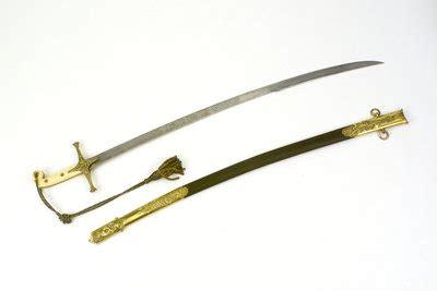 Frame Rho Katana 3 50cm White mameluke hilted sword e e emanuel royal museums greenwich prints