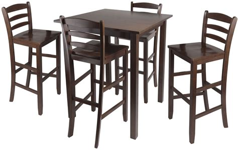 5 Counter Height Dining Set With Stools parkland walnut 5 counter height dining set with