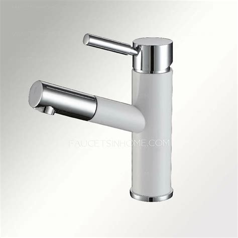 discount white pullout spray unique bathroom faucet
