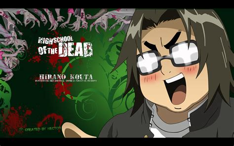 highschool of the dead hirano highschool of the dead wallpaper 16513512 fanpop
