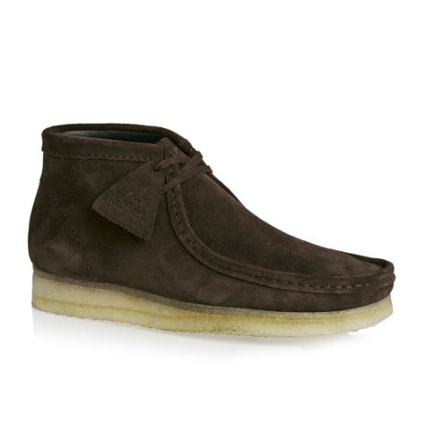clarks boots clarks originals wallabee boots brown free uk
