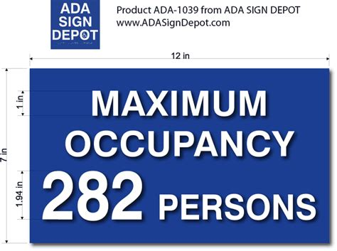 room signs maximum occupancy room signs adasigndepot