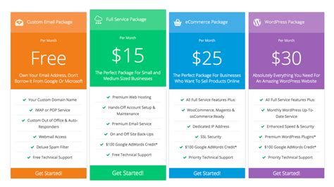 11 amazing pricing tables for spunger
