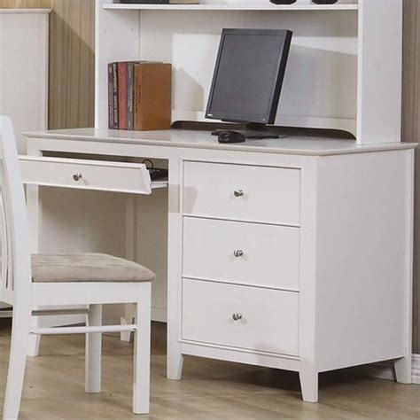 White Company Desk by Coaster Company Selena Computer Desk White Walmart