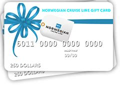 Norwegian Cruise Line Gift Card - cruise gifts bon voyage gifts norwegian cruise line