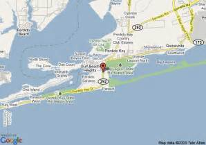 where is perdido key florida on the map map of resortquest palacio pensacola