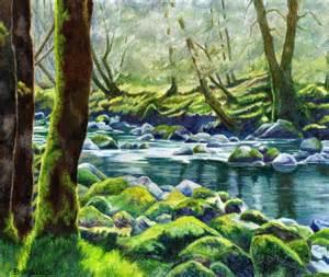 colored pencil landscape river landscapes colored pencil search