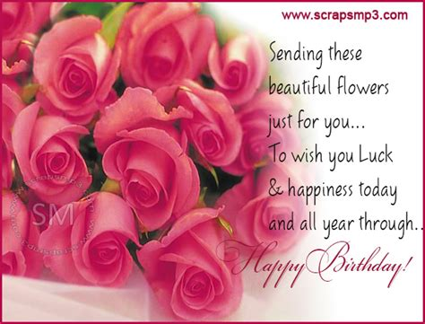 Happy Birthday Wishes Roses Happy Birthday With Beautiful Rose Flowers